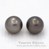 2 Pérolas do Tahiti Redondas C 12.3 mm